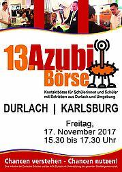Durlacher Azubibörse am 17. November 2017. Grafik: pm