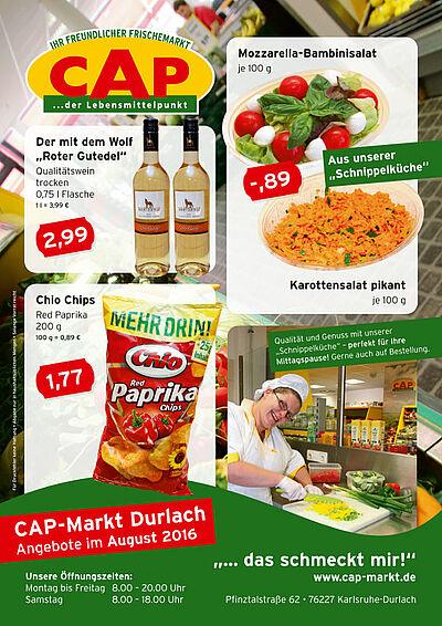 CAP-Markt: Angebote im August 2016