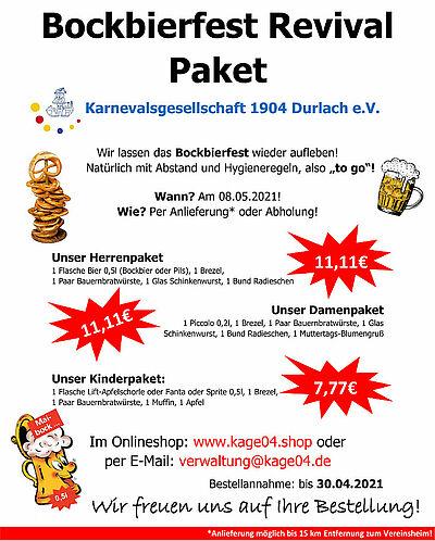 Bockbierfest Revival Paket. Grafik: pm