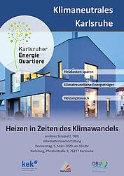 Info-Veranstaltung: Heizen in Zeiten des Klimawandels. Grafik: pm