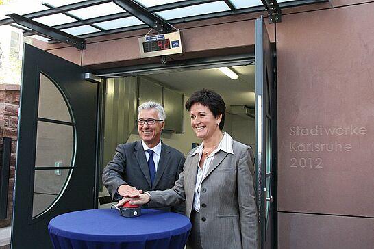 22 Inbetriebnahme der neuen Druckerhöhungsanlage - Eine neue Anlage in der Posseltstraße wird zkünftig Trinkwasser auf den Turmberg pumpen. (24 Fotos)