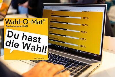 Der Wahl-O-Mat ist keine Wahlempfehlung, sondern ein Informationsangebot über Wahlen und Politik. Grafik/Foto: bpb/BILDKRAFTWERK/Zöhre Kurc