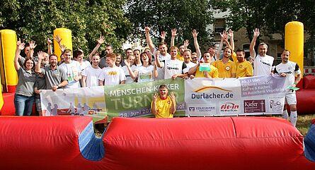 Menschen-Kicker-Turnier 2014 – Siegerehrung. Foto: cg