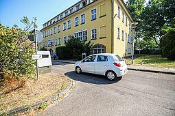 Präsentation des Trailers auf dem Gelände in der Alten Weingartener Straße. Foto: cg