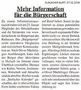 Durlacher Blatt vom 07. Februar 2008