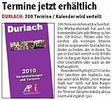 Wochenblatt - Ausgabe Durlach & Region | 30. Dezember 2009