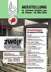 """Ausstellung: """"ZWOELF"""" Kirchenbauten der Nachkriegszeit. Grafik: pm"""