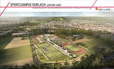 So könnte der neue Sport- und Freizeitpark ausschauen. Grafik: HDK Dutt & Kist GmbH
