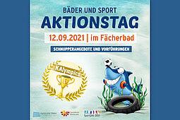 KAlympics: Aktionstag im Fächerbad am 12. September 2021. Grafik: pm