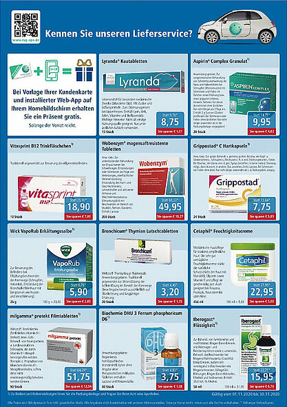 Rundum gesund Apotheken: Angebote im September 2020. Grafik: pm