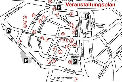 Durlacher Vernissage 2014 (Übersichtskarte). Grafik: pm