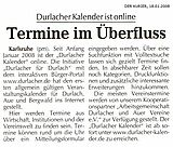 Der Kurier vom 18. Januar 2008