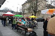Wahlkampf in Durlach. Symbolfoto: cg