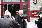 Walter Walschburger bei der Einweihung seiner Halle