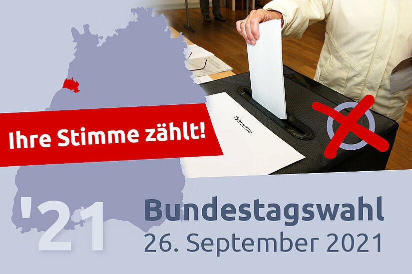 Bundestagswahl 2021: Ihre Stimme zählt! Grafik: cg