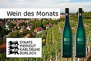 Wein des Monats: 2018 Grauburgunder Kaisersberg *** trocken und 2018 Weißburgunder SL *** trocken. Grafik: cg