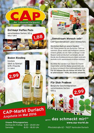 CAP-Markt: Angebote im Mai 2016