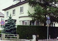 Die erste Verlagsadresse: Arndtstraße 12 in Karlsruhe-Rüppurr.