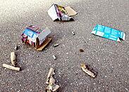 Abgebrannte Feuerwerkskörper. Foto: cg