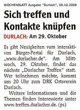 Wochenblatt vom 08. Oktober 2008