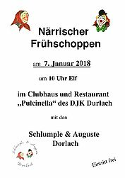 Närrischer Frühschoppen 2018. Grafik: pm