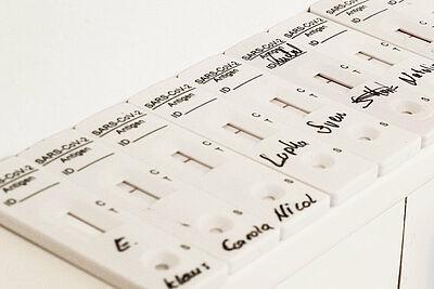 Zweimal pro Woche können sich Lehrerinnen und Lehrer auf Covid-19 testen lassen. Foto: cg