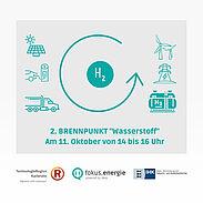 """""""Brennpunkt"""" von """"fokus.energie e.V."""" informiert am 11. Oktober 2021 über Wasserstoff. Grafik: pm"""