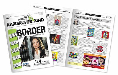 Karlsruher Kind – Die regionale Elternzeitung. Grafik: cg
