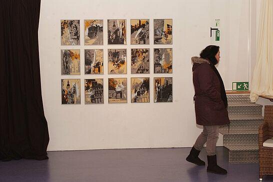 """07 Margot Witte - Vor Ort - Ausstellung des Vereins """"Die Orgelfabrik - Kultur in Durlach e.V."""" im OrgelFabrikSalon vom 04. bis 07. November 2010. (09 Fotos)"""