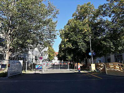 Sperrung der Prinzessenstraße. Foto: cg