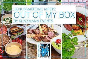 OutOfMyBox am 23. und 24. Juli im Hotel Der Blaue Reiter – jetzt anmelden! Grafik: pm