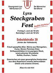 LYRA lädt ein zum Steckgrabenfest 2016