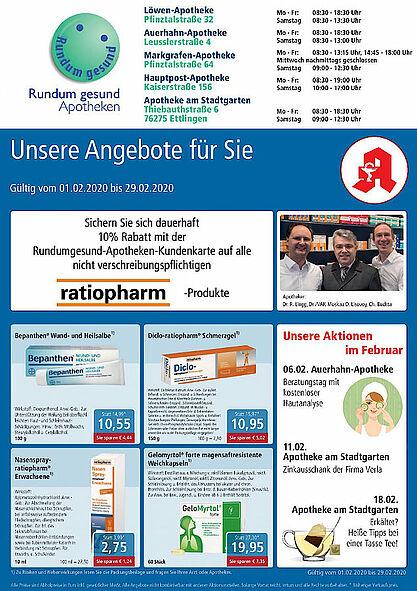 Rundum gesund Apotheken: Aktionen und Angebote im Februar 2020. Grafik: pm