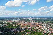 Blick auf Durlach und Karlsruhe. Foto: cg