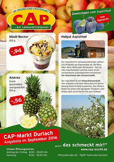 CAP-Markt: Angebote im September 2016