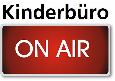 """Kinderbüro on air"": Interaktive Webinare. Grafik: Kinderbüro"
