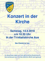 Einladung zum Konzert in der Kirche. Grafik: pm