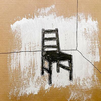 """Katja Wittemann, """"Titel"""", Mischtechnik, 12 x 12 cm, 2021. Foto: zettzwo"""