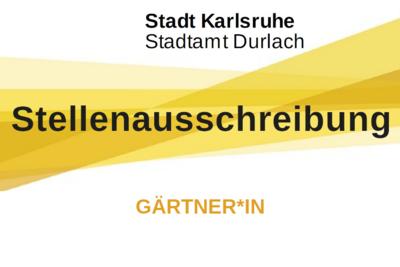 Stadtamt Durlach sucht Gärtner*in. Grafik: Stadt Karlsruhe/cg