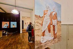 Kunstparcours in Durlach (Standort: Festhalle). Foto: cg