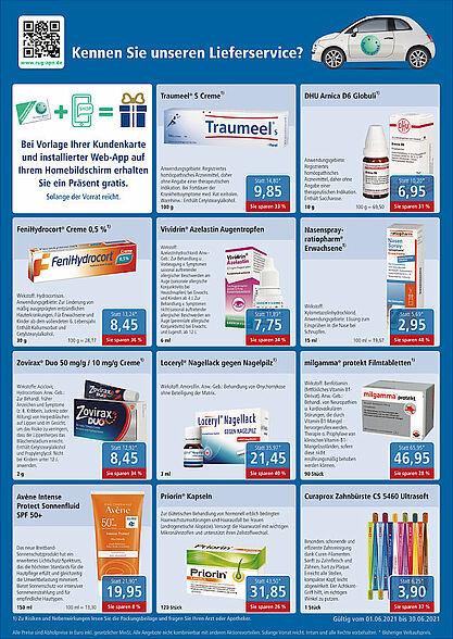 Rundum gesund Apotheken: Angebote im Juni 2021. Grafik: pm
