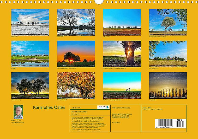 Übersicht der Kalenderblätter. Grafik: pm