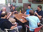 Die Schafkopfer am Kartentisch im Durlacher Kranz. Foto: Karin Fléing