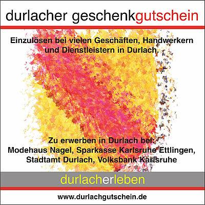 Krisenfestes (Weihnachts-)Geschenk: Der Durlacher Geschenkgutschein für Durlachliebende. Grafik: pm