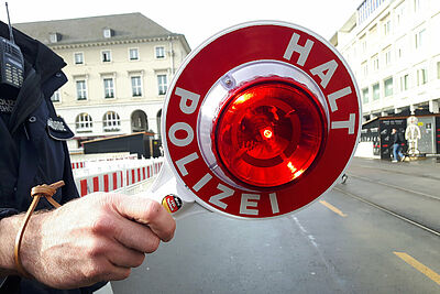 Polizeikontrolle. Foto: cg