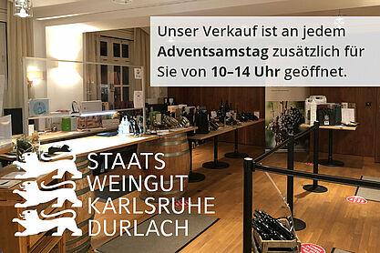 Der neue Verkaufsraum des Staatsweinguts in der Posseltstraße. Foto: pm