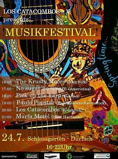 Sechs Bands, ein Festival. Grafik: pm