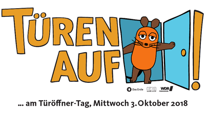 Maus-Türöffner-Tag 2018: Die Turmbergbahn macht mit. Grafik: wdr