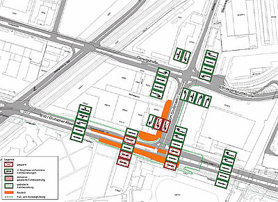 Verkehrsanbindung IKEA geht weiter voran. Grafik: pia