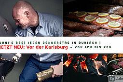 Kuhni`s Barbecue vor der Karlsburg. Grafik: pm/Bearbeitung: om